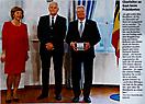 2. Der Bundespräsident und seine Lebensgefährtin Daniela Schadt mit Erhard (Erle) Helfers