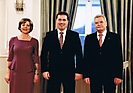 2. Der Bundespräsident und seine Lebensgefährtin Daniela Schadt mit Thorsten Schwebe