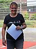 17 Berit Böttger: silberne Nadel für 25 jährige Mitgliedschaft